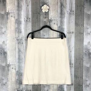 Ann Taylor Factory Creamy Wool Blend Skirt 14 NWT